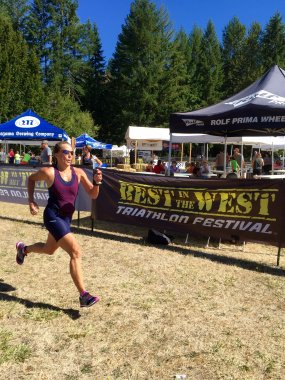 Best in the West Olympic Tri Finish September 2015