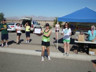1st Place Overall Female 5k 2011 (and 8 wks pregnant)