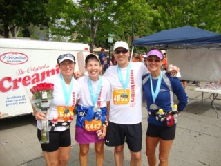 Me, Sue, Bruce & Donna at finish