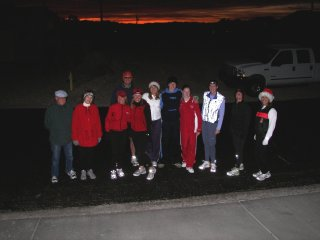Kelly's Christmas Light Run 07 First Group