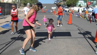 Gracie's first triathlon at age 1-1/2.