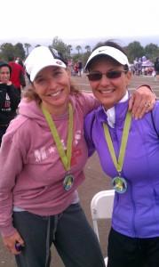 Donna & I at finish